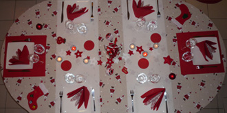 Deco Table Noel Rouge Et Or Interesting Perfect Decoration Table