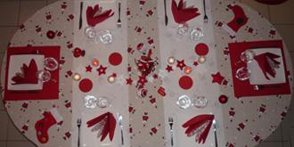 Décoration De La Table De Noël Et Du Réveillon Du Nouvel An