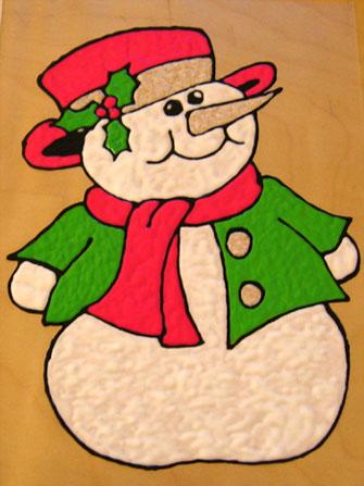bonhomme de neige plastifi repositionnable - Windows Color Noel