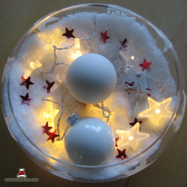 No l toosurtoo centre de table illumin et enneig pour - Centre de table noel ...
