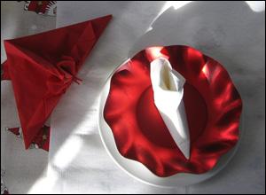 Pliage de serviettes à réaliser pour Noël