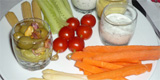 assiette gourmande de crudites de No�l