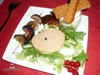 Assiette gourmande autour du foie gras for Entree avec du foie gras froid