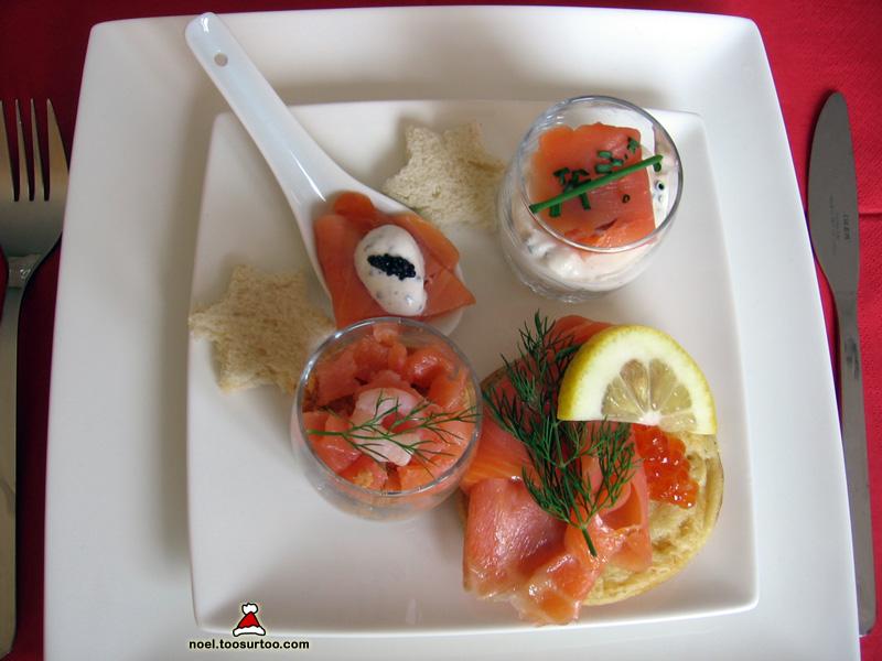 Assiette gourmande de saumon fum - Foie gras decoration assiette ...