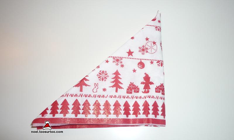 Pliage De Serviette Double Pyramide Serviettes Unie Et Colorée