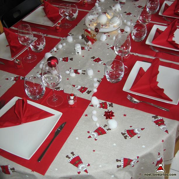 D coration de la table de no l et du r veillon du nouvel an for Decoration reveillon nouvel an