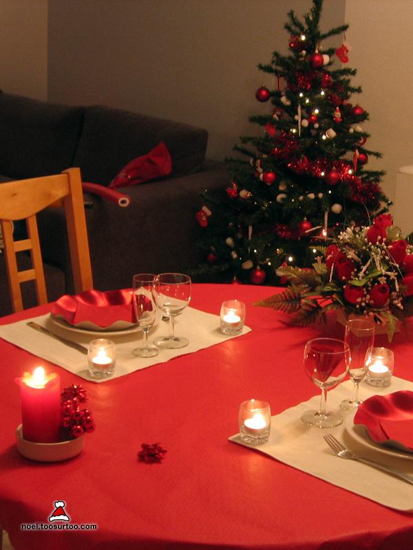D coration de la table de no l et du r veillon du nouvel an for Decoration pour noel
