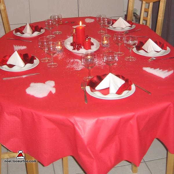 Decoration Table De Noel Rouge Et Blanc on